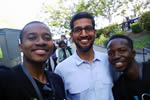 Kudzai Aggrey Chasinda and the Google CEO Mr Sundar Pichai