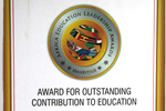 Outstanding Leadership and Contribution to Eduacation Award