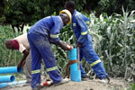 Reverse flow borehole hand-drilling technology training workshop