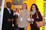 InstiFoods Chairperson Mr D. Moyo (left) at the Africa Big Seven Exhibition in Midrand, South Africa